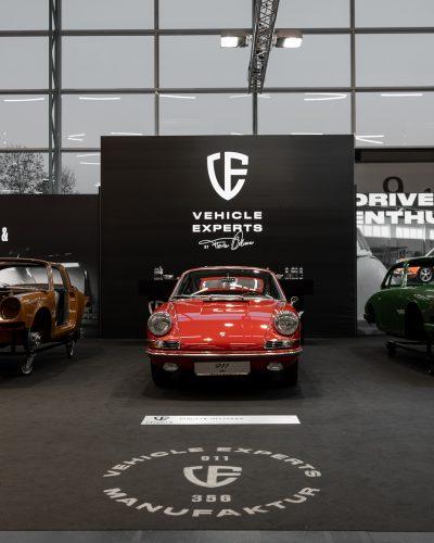 Drei Porsche 911 von vorne