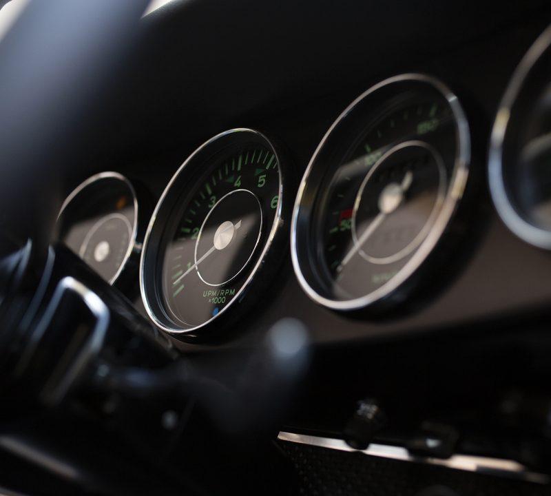 Gelber Porsche 911S Ziffernblätter