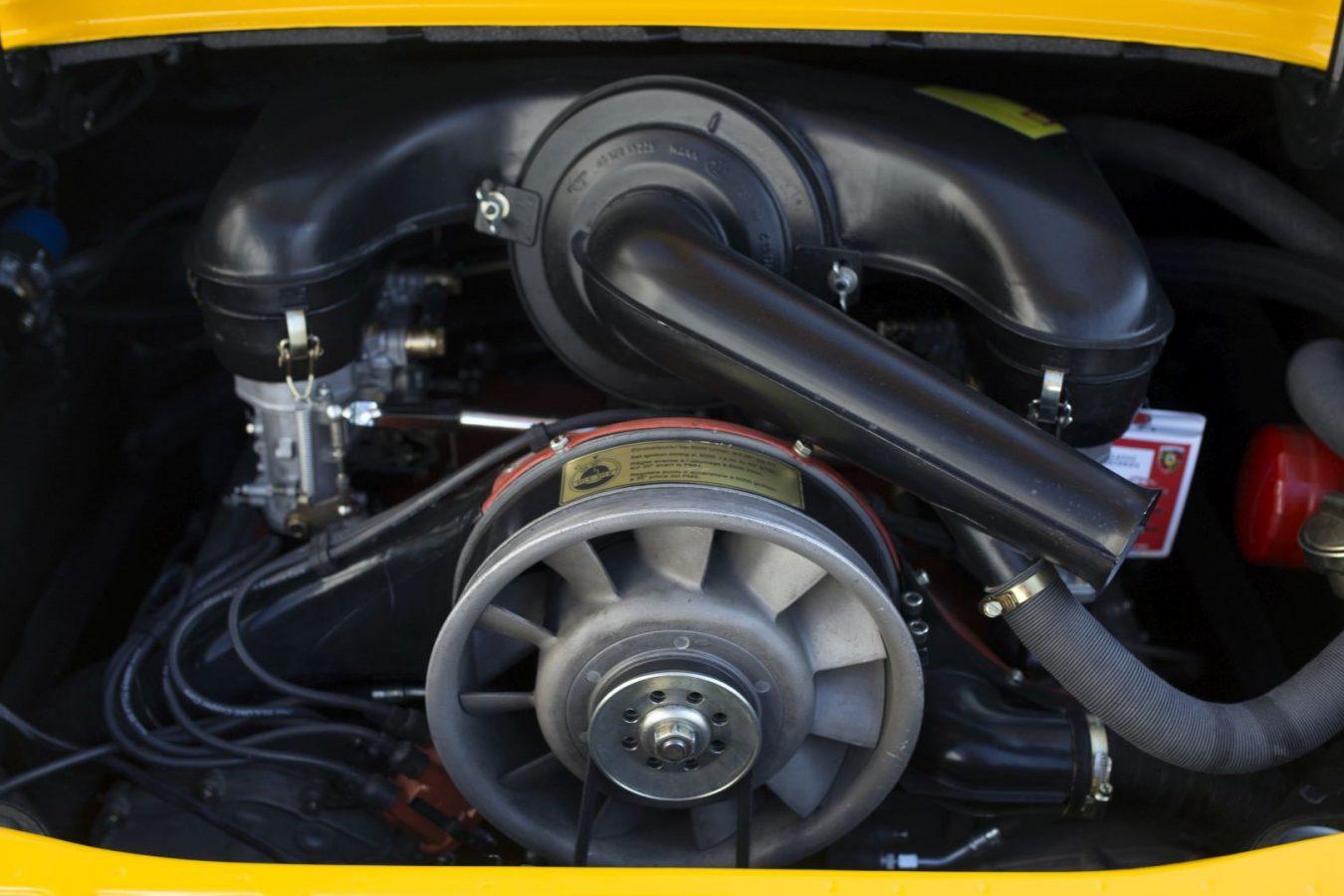 Motor eines Porsche 911S Targa