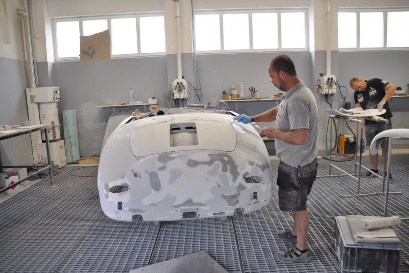 Restaurierung einer Karosserie