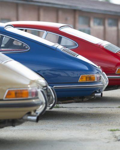 Drei Porsche Oldtimer