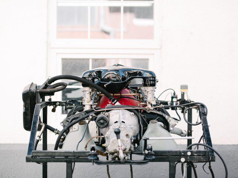 Motor bei der Restaurierung