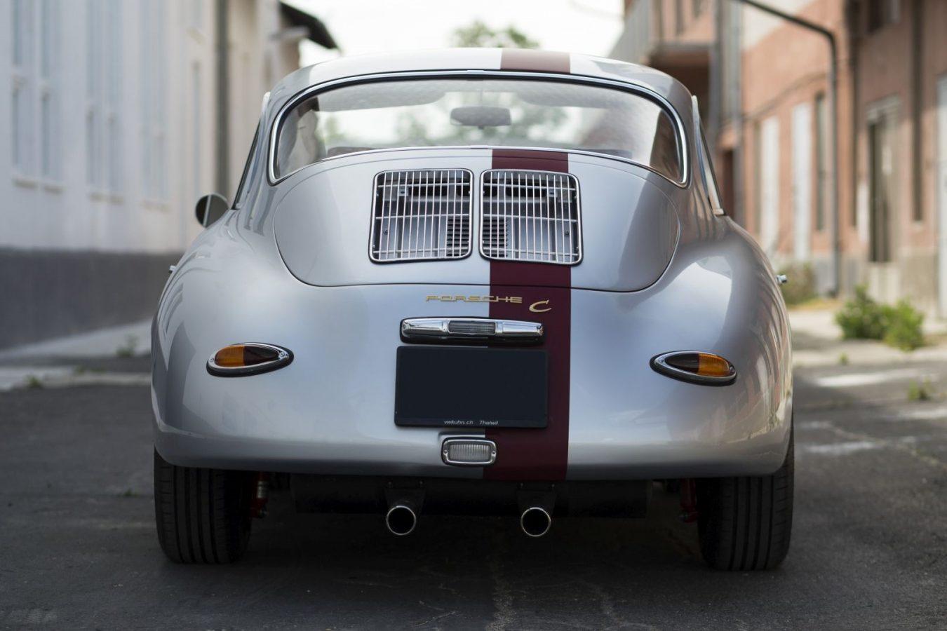 Zweifarbiger Porsche 356 von hinten