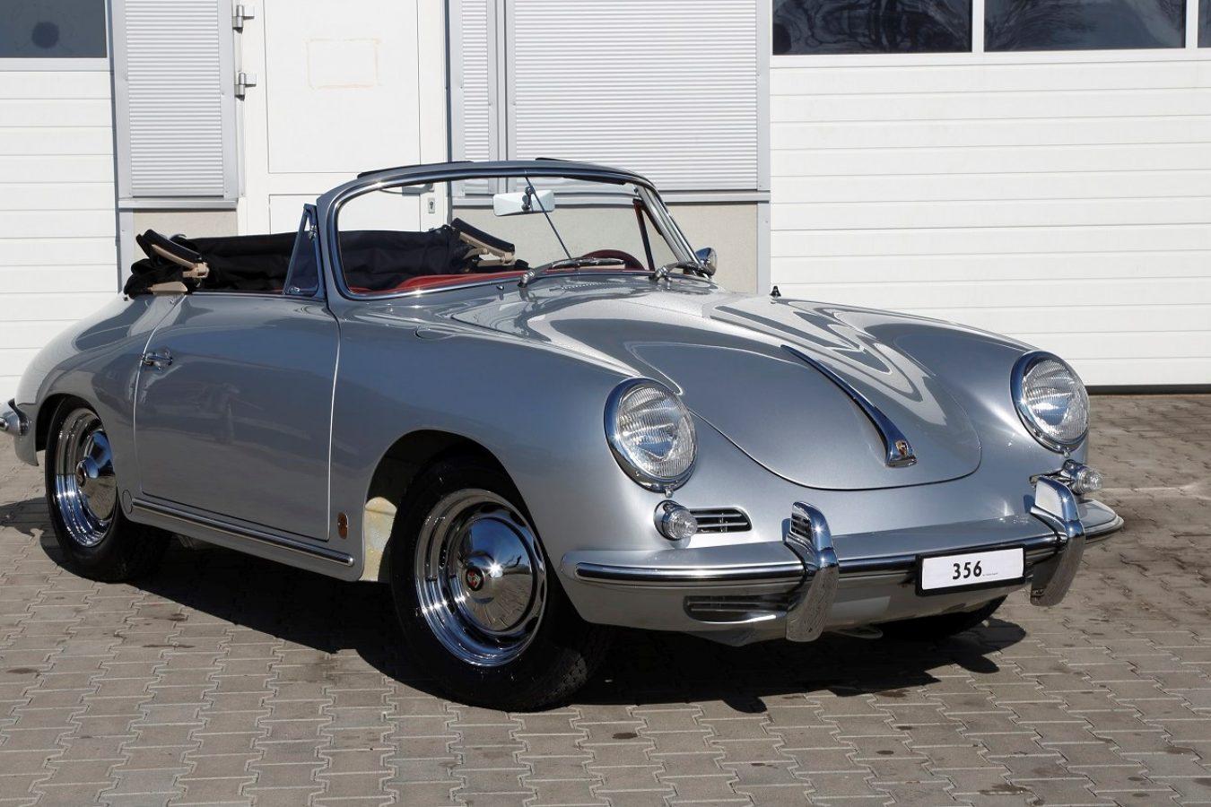 Porsche 356 BT6 Cabrio in Silber von vorne