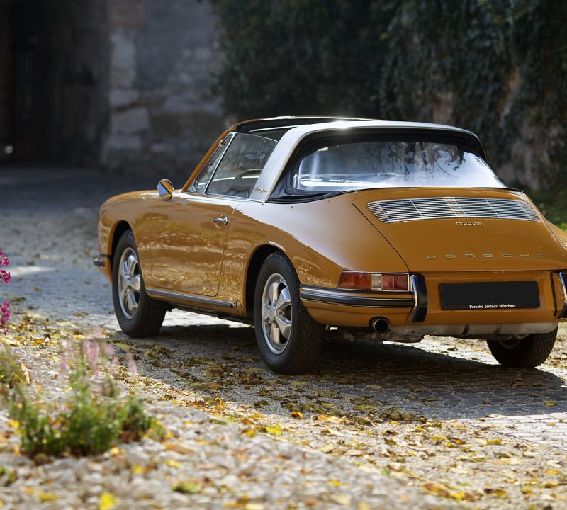 Bahama gelber Porsche 911S Softwindow Targa