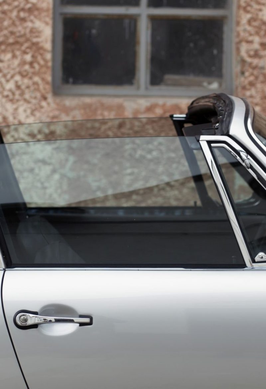 Porsche 911S Targa mit offenem Dach