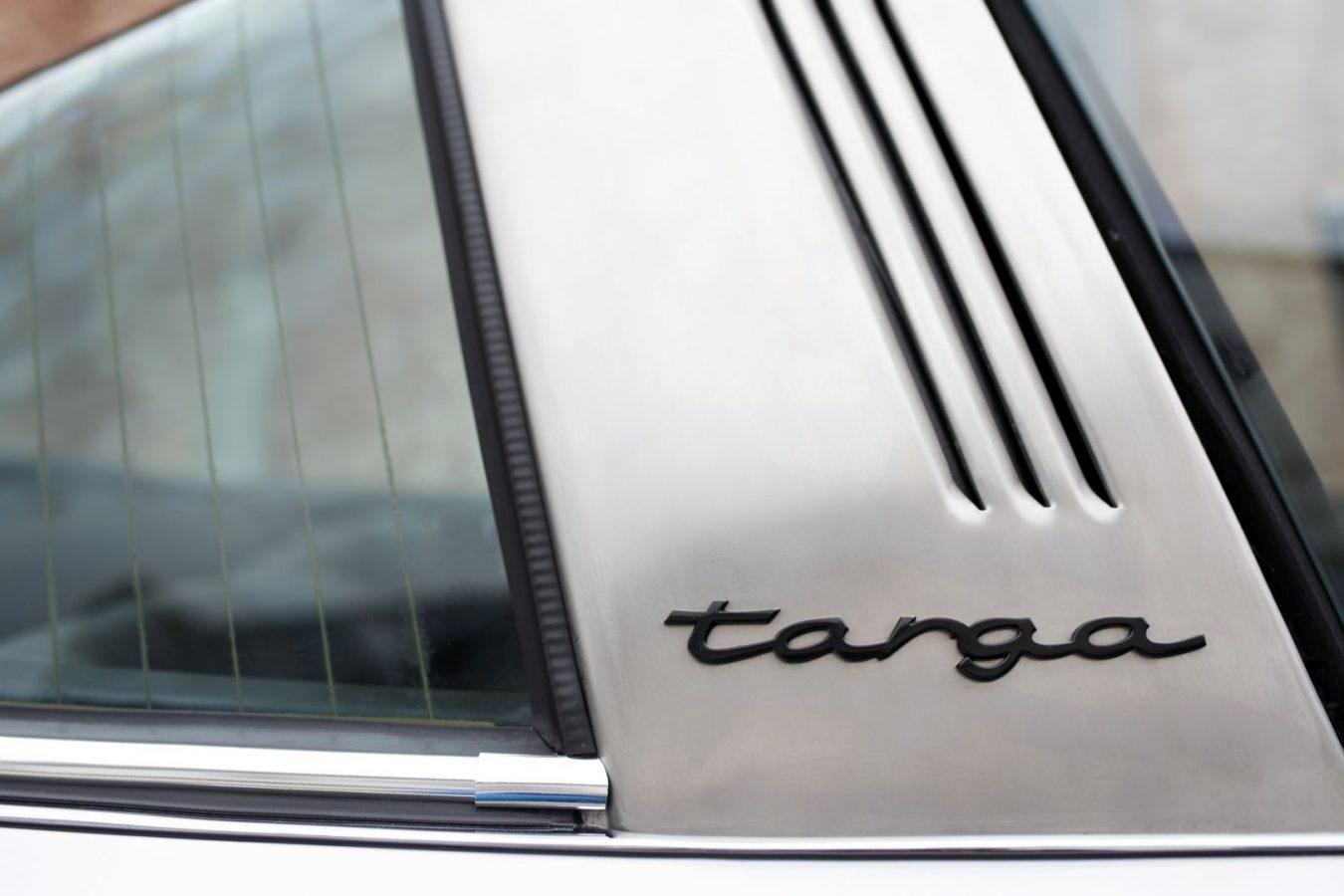 Porsche 911S Targa Targa Schriftzug
