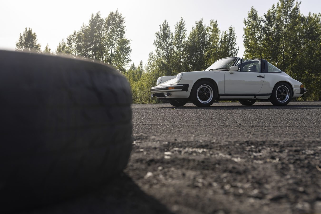Chiffon Weisser Porsche 3