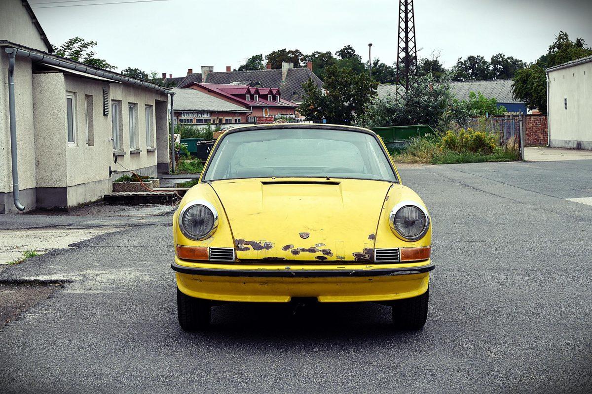 Porsche 911S Targa in Metallicblau