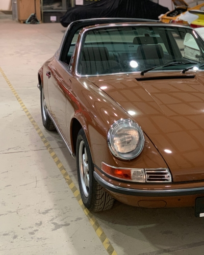 Sepiabraun 911E Targa aus 1969 1