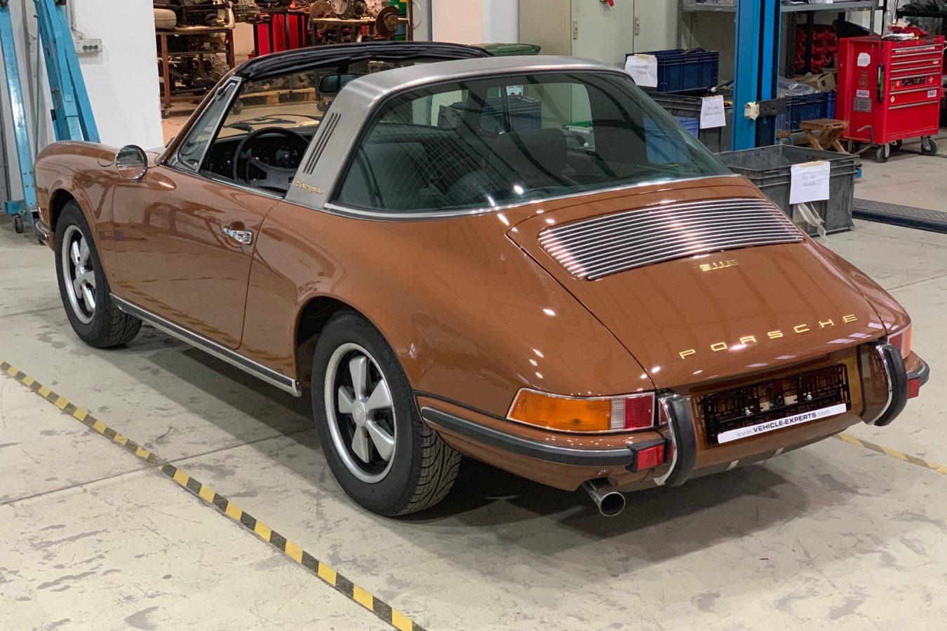 Sepiabraun 911E Targa aus 1969 3