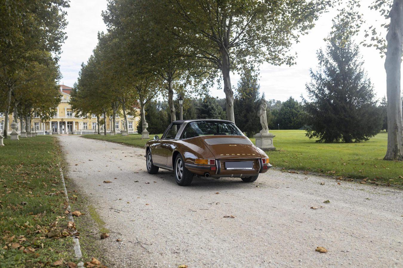 Sepiabraun 911E Targa aus dem Jahr 1969 6