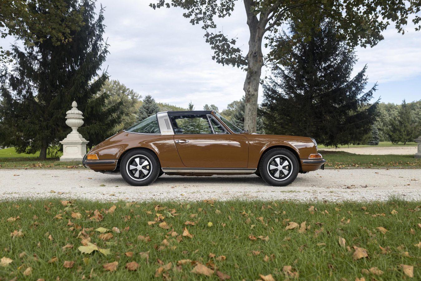 Sepiabraun 911E Targa aus dem Jahr 1969 7